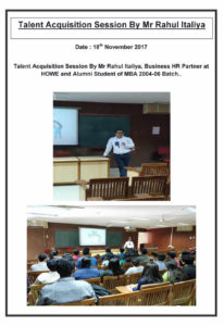 Talent Acquisition Session By Mr. Rahul Italiya